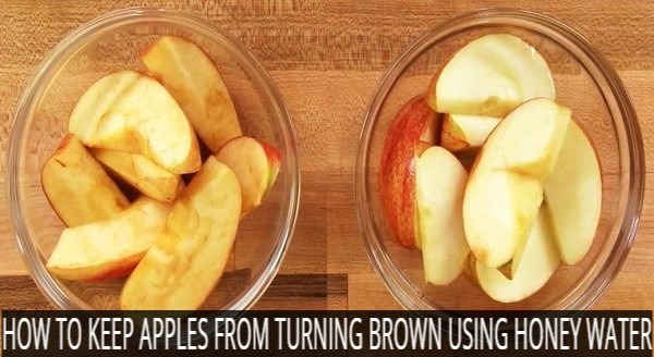 How to keep apples from turning brown with Honey