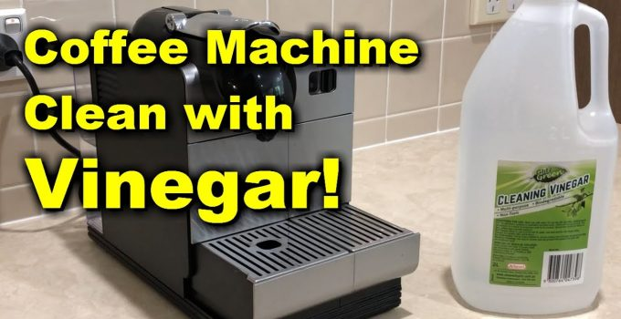 How to clean an espresso machine with vinegar